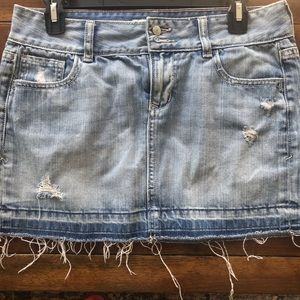 Old Navy Distressed Jean Skirt